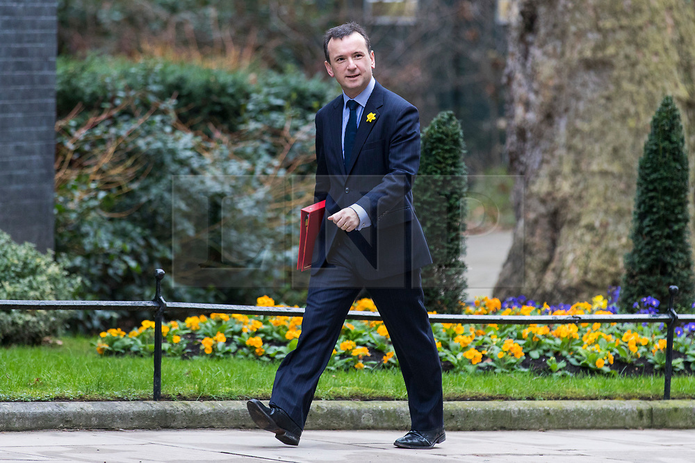 © Licensed to London News Pictures. 06/03/2018. London, UK. Secretary of State for Wales Alun Cairns on Downing Street for the weekly Cabinet meeting. Photo credit: Rob Pinney/LNP
