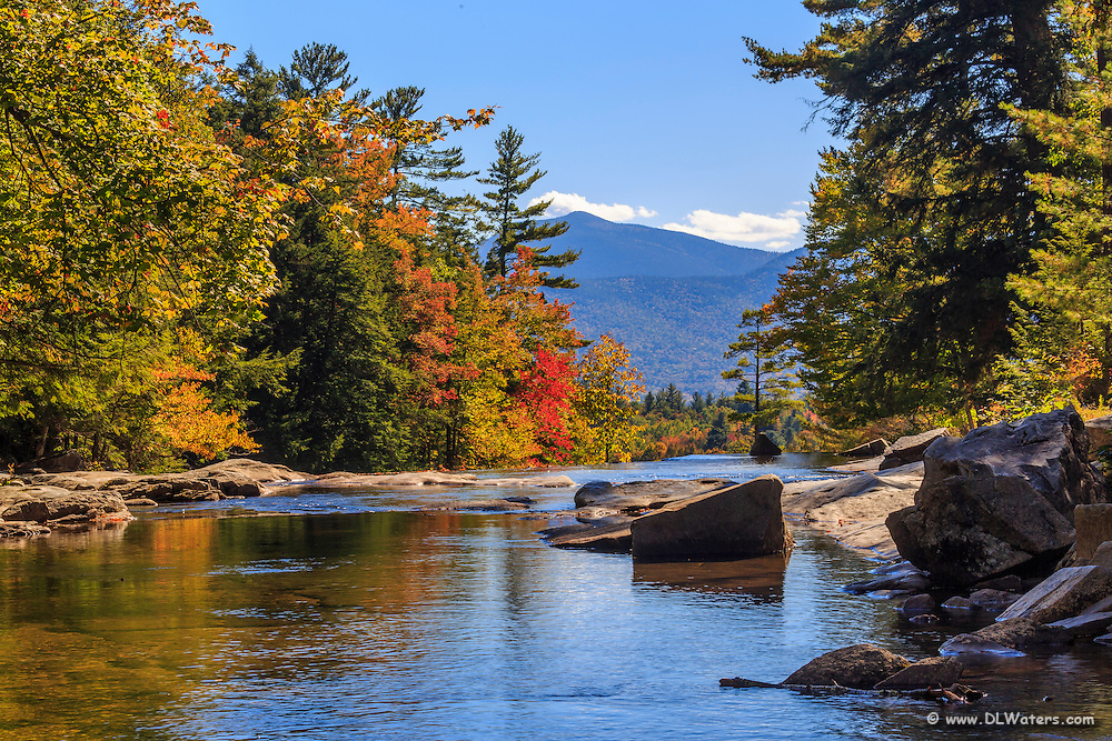 Flat water above the waterfall at Jackson, New Hampshire.