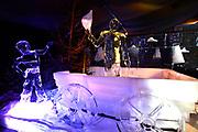 Het IJsbeelden Festival presenteert '200 jaar Koninkrijk der Nederlanden', een vorstelijke geschiedenis in ijs en sneeuw.<br /> <br /> Op de foto: IJssculptuur van Koning Willem I