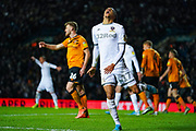 Leeds United forward Helder Costa (17) is offside and reacts during the EFL Sky Bet Championship match between Leeds United and Hull City at Elland Road, Leeds, England on 10 December 2019.