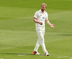 Durham's Paul Collingwood gestures - Photo mandatory by-line: Robbie Stephenson/JMP - Mobile: 07966 386802 - 03/05/2015 - SPORT - Football - London - Lords  - Middlesex CCC v Durham CCC - County Championship Division One