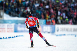 March 10, 2019 - –Stersund, Sweden - 190310 Simon Eder of Austria during the Men's 12,5 km Pursuit during the IBU World Championships Biathlon on March 10, 2019 in Östersund. 10, 2019 in Östersund..Photo: Johan Axelsson / BILDBYRÃ…N / Cop 245 (Credit Image: © Johan Axelsson/Bildbyran via ZUMA Press)