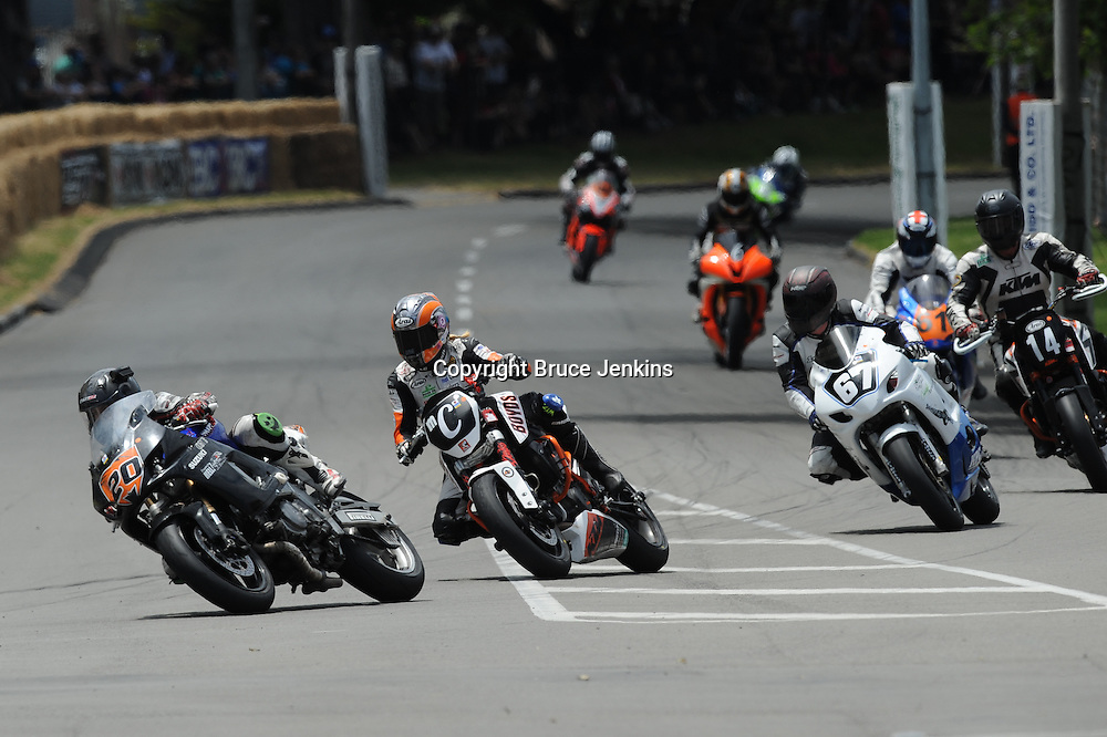 Maria Costello OBE ( C ) from UK at  the Cemetery Circuit Road Races, Wanganui, Boxing Day which was the 3rd and final round of the 2014 Suzuki Series