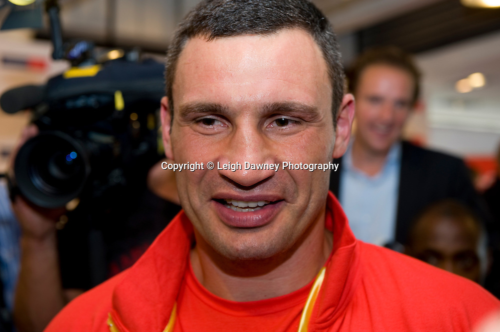 Friday 1st July 2011. Vitlali Klitschko at the David Haye & Wladimir Klitschko Official Weigh In, Hamburg before for the WBA, WBO & IBF Heavyweight Title. Photo credit: Leigh Dawney 2011