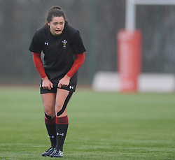 Wales women's Robyn Wilkins<br /> <br /> Photographer Mike Jones/Replay Images<br /> <br /> International Friendly - Wales women v Ireland women - Sunday 21st January 2018 - CCB Centre for Sporting Excellence - Ystrad Mynach<br /> <br /> World Copyright © Replay Images . All rights reserved. info@replayimages.co.uk - http://replayimages.co.uk