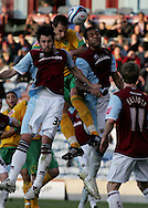 Burnley - Saturday November 1st, 2008: Christian Kalvenes of Burnley and John Kennedy of Norwich City during the Coca Cola Championship match at Burnley. (Pic by Michael Sedgwick/Focus Images)