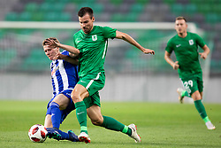 Dino Stiglec of NK Olimpija Ljubljana during 1st Leg football match between NK Olimpija Ljubljana and HJK Helsinki in 3rd Qualifying Round of UEFA Europa League 2018/19, on August 9, 2018 in SRC Stozice, Ljubljana, Slovenia. Photo by Urban Urbanc / Sportida