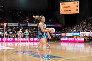 SYDNEY, NSW - JUNE 22: Liz Watson of the Vixens catches the ball during the round 9 Super Netball match between the Giants and the Vixens at Quaycentre on June 22, 2019 in Sydney, Australia. (Photo by Speed Media/Icon Sportswire)