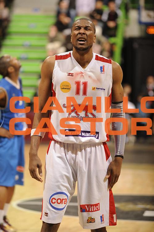 DESCRIZIONE : Ligue France Pro A Semaine des As Roanne Nancy<br /> GIOCATORE : Slaughter Marcus<br /> SQUADRA : Nancy<br /> EVENTO : France Ligue  Pro A 2009-2010<br /> GARA : Roanne Nancy<br /> DATA : 18/02/2010<br /> CATEGORIA : Basketball Pro A Action<br /> SPORT : Basketball<br /> AUTORE : JF Molliere par Agenzia Ciamillo-Castoria <br /> Galleria : France Ligue Pro A 2009-2010 <br /> Fotonotizia :  Ligue France Pro A 2009-10 Roanne Nancy Semaine des AS Villeurbanne 18/02/2010<br /> Predefinita :
