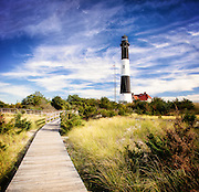 Fire Island Lighthouse in Early Fall