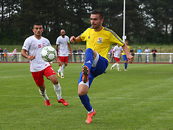 May 31, 2018 - London, United Kingdom - Zsult Gajdos of Karpatalya .during Conifa Paddy Power World Football Cup 2018  Group B match between Northern Cyprus against Karpatalya at Queen Elizabeth II Stadium (Enfield Town FC), London, on 31 May 2018  (Credit Image: © Kieran Galvin/NurPhoto via ZUMA Press)