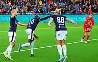 Fotball Tippeligaen 15.09.2019<br /> Gamle Gress Marienlyst stadion Drammen<br /> <br /> <br /> Resultat <br /> <br /> Strømsgodset  moses mawa scoringsjubel<br /> <br /> Ranheim  <br /> <br /> <br /> Foto: Robert Christensen Digitalsport