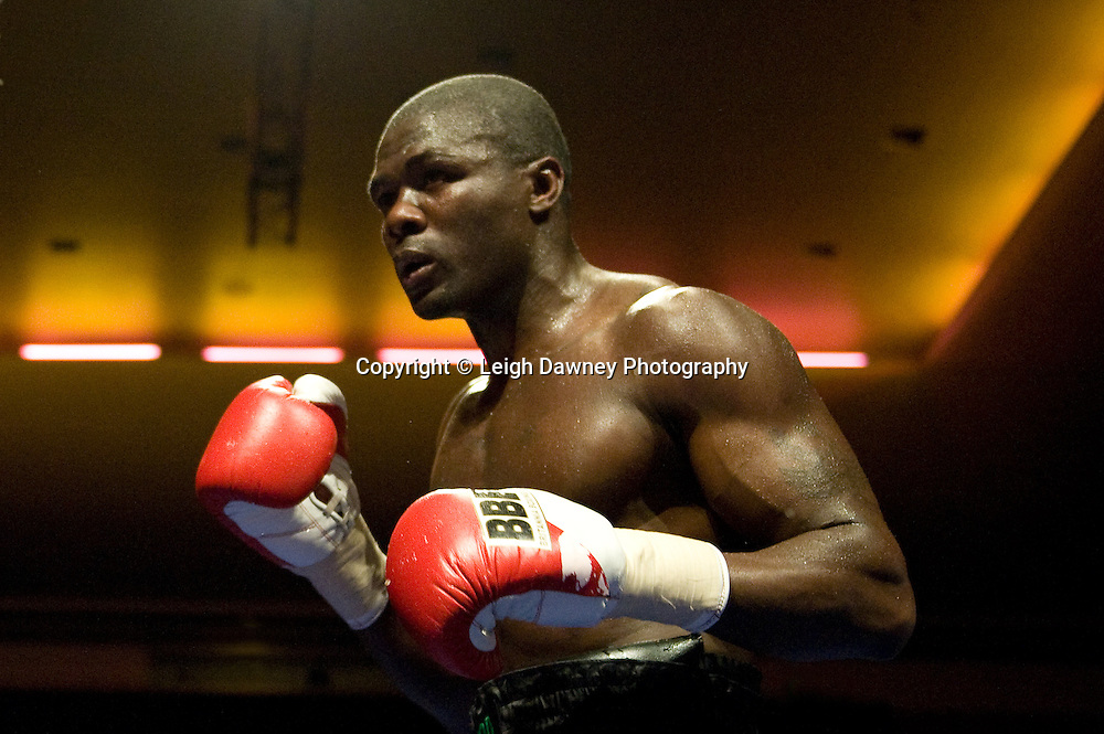 Hastings Rasani (boxer) against JJ Ojvejerie at Watford Colusseum 29 November 2009 Promoter Mickey Helliet, Hellraiser Promotions: Credit: ©Leigh Dawney Photography