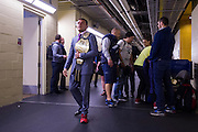 DALLAS, TX - MARCH 14:  Rafael Dos Anjos walks backstage after defeating Anthony Pettis and becoming the new UFC lightweight champion during UFC 185 at the American Airlines Center on March 14, 2015 in Dallas, Texas. (Photo by Cooper Neill/Zuffa LLC/Zuffa LLC via Getty Images) *** Local Caption *** Rafael Dos Anjos