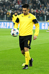 24.02.2015, Veltins Arena, Turin, ITA, UEFA CL, Juventus Turin vs Borussia Dortmund, Achtelfinale, Hinspiel, im Bild Ilkay Guendogan #8 (Borussia Dortmund) beim warm up // during the UEFA Champions League Round of 16, 1st Leg match between between Juventus Turin and Borussia Dortmund at the Veltins Arena in Turin, Italy on 2015/02/24. EXPA Pictures © 2015, PhotoCredit: EXPA/ Eibner-Pressefoto/ Kolbert<br /> <br /> *****ATTENTION - OUT of GER*****