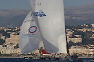 FRANCE, Nice, 21st November 2009, Louis Vuitton Trophy, Day 14, Semi Final Day 3, TEAMORIGIN vs Azzurra, Race 3, Final Run.