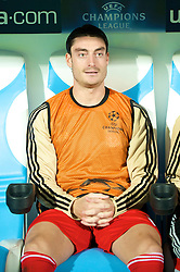 MARSEILLE, FRANCE - Tuesday, September 16, 2008: Liverpool's Albert Riera before the opening UEFA Champions League Group D match against Olympique de Marseille at the Stade Velodrome. (Photo by David Rawcliffe/Propaganda)
