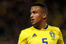 November 20, 2018 - Stockholm, Sweden - Martin Olsson of Sweden looks on during the UEFA Nations League B Group 2 match between Sweden and Russia on November 20, 2018 at Friends Arena in Stockholm, Sweden. (Credit Image: © Mike Kireev/NurPhoto via ZUMA Press)