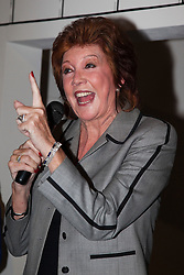 "© under license to London News Pictures. LONDON, 19/05/2011. Cilla Black giving a speech. Opening of the Tommy Nutter Exhibition ""Rebel on the Row"" at the Fashion and Textile Museum, London. Photo credit should read BETTINA STRENSKE/LNP"