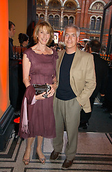 Leading make-up artist BARBARA DALY and her husband LAURENCE TARLO  at the 5th anniversary party for InStyle magazine held at The V&A, Cromwell Road, London SW7 on 19th June 2006.<br />