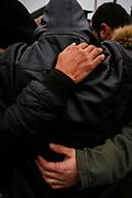 Richiedenti asilo del Cara di Castelnuovo di Porto all'esterno della struttura. Roma 22 Gennaio 2019. Christian Mantuano / OneShot <br /> <br /> Acting on the authority of Mr. Salvini's Security Decree police last week cleared out an integration center in Castelnuovo di Porto, north of Rome.<br /> Christian Mantuano / Oneshot