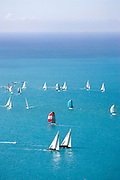 Aerial vew from a by-plane, on Day 5 of Key West Race Week 2007, Florida, USA. Day 5, 19/01/07.