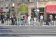 Israel, Jerusalem, Pedestrians in King George street