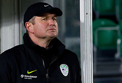 Head coach of Slovenia Matjaz Kek during EURO 2012 Qualifications game between National teams of Slovenia and Northern Ireland, on March 29, 2011, in Windsor Park Stadium, Belfast, Northern Ireland, United Kingdom. (Photo by Vid Ponikvar / Sportida)