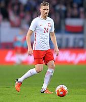 2016.03.23 Poznan<br /> Pilka Nozna Reprezentacja Mecz towarzyski<br /> Polska - Serbia<br /> N/z Bartosz Salomon<br /> Foto Rafal Rusek / PressFocus<br /> <br /> 2016.03.23 Poznan<br /> Football Friendly Game<br /> Poland - Serbia<br /> Bartosz Salomon<br /> Credit: Rafal Rusek / PressFocus