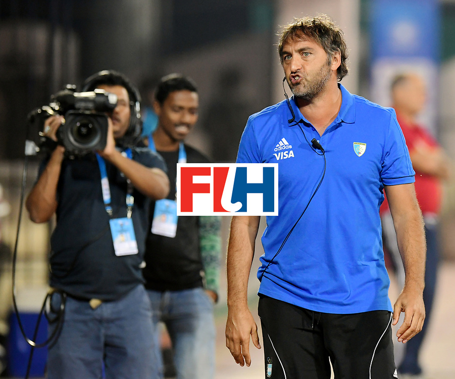 Odisha Men's Hockey World League Final Bhubaneswar 2017<br /> Match id:14<br /> England v Argentina<br /> Foto: coach Carlos Retegui (Arg) <br /> COPYRIGHT WORLDSPORTPICS FRANK UIJLENBROEK