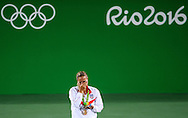 Monica Puig of Puerto Rico wins the Gold Medal in the Women's Tennis Singles on day eight of the XXXI 2016 Olympic Summer Games in Rio de Janeiro, Brazil.<br /> Picture by EXPA Pictures/Focus Images Ltd 07814482222<br /> 13/08/2016<br /> *** UK & IRELAND ONLY ***<br /> <br /> EXPA-EIB-160814-0022.jpg