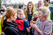 UTRECHT - Princess Beatrix is planning a king's lime in the Griftpark. The tree was presented to the princess by an initiative group In Freedom Connected, a network of religions and philosophies.  ROBIN UTRECHT