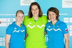 Ziva Zdolsek, Masa Pirsic and Ana Ljubenovic during presentation of Slovenian Team for Baku 2015 European Games,  on June 4, 2015 in Koper, Slovenia. Photo by Vid Ponikvar / Sportida
