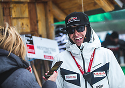 Justin Ritter coach LEDECKA Ester  during FIS alpine snowboard world cup 2019/20 on 18th of January on Rogla Slovenia<br /> Photo by Matic Ritonja / Sportida