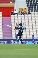 Cricket - 2019 ICC Cricket World Cup warm ups - Australia vs. Sri Lanka<br /> <br /> Jeevan Mendis of Sri Lanka hooks the ball towards a small contingent of Sri Lanka fans during the cricket world cup warm up match at the Hampshire Bowl Southampton England<br /> <br /> COLORSPORT/SHAUN BOGGUST