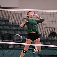 3rd year Right-Side hitter Haley Wagar in action during Women's Volleyball home game on January 12 at Centre for Kinesiology, Health and Sport. Credit: /Arthur Images 2018