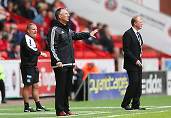 Sheffield United Manager, Nigel Adkins and Newcastle United Manager, Steve McClaren - Mandatory by-line: Matt McNulty/JMP - 26/07/2015 - SPORT - FOOTBALL - Sheffield,England - Bramall Lane - Sheffield United v Newcastle United - Pre-Season Friendly