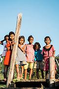 "Fishing village on ""Kyun Phi Lar"" or ""Great Swinton"" island in the Mergui Archipelago."