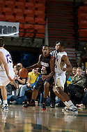 November 27, 2008: San Diego State's Billy White (32) posts up against Western Carolina's Adrian Gailliard in the final game in the opening round of the 2008 Great Alaska Shootout at the Sullivan Arena