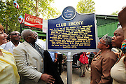 B B King Blues Marker/Att Learning Center.ALL IMAGES ©SUZI ALTMAN/Suzisnaps.com MANDATORY CREDIT. .©SuziAltman/Suzisnaps.com.IMAGES ARE NOT PUBLIC DOMAIN.call or email for use 601-668-9611 suzisnaps@aol.com Indianola Mississippi- Multi Grammy winner and legendary blues guitarist B.B. King plays his hometown crowd outside his museum the  B.B. King Delta Interpretive Center and Museum. Photo© Suzi Altman
