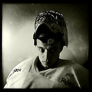 Ice Men Cometh… Fikri Atali, 19, Turkey..An iPhone portrait series on young men competing in the 2012 IIHF Ice Hockey World Championships Division 3. The tournament  was contested by countries New Zealand, Iceland, China, Bulgaria and Turkey at Dunedin Ice Stadium. Dunedin, Otago, New Zealand. 17th January 2012. Photo Tim Clayton