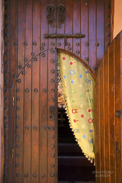 Door at the historic kasbah of Ait Ben Haddou
