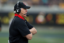 BERKELEY, CA - SEPTEMBER 12:  Head coach Rocky Long of the San Diego State Aztecs stands on the sidelines against the California Golden Bears during the first quarter at California Memorial Stadium on September 12, 2015 in Berkeley, California. The California Golden Bears defeated the San Diego State Aztecs 35-7. (Photo by Jason O. Watson/Getty Images) *** Local Caption *** Rocky Long
