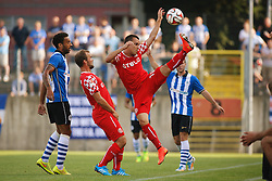 """26.07.2014, Paul-Janes-Stadion, Duesseldorf, GER, FS Vorbereitung, Testspiel, Fortuna Duesseldorf vs Wigan Athletic, im Bild Michael Liendl (Fortuna Duesseldorf #10) und Erwin """"Jimmy"""" Hoffer (Fortuna Duesseldorf #9) // during a Friendly Match between Fortuna Duesseldorf and Wigan Athletic at the Paul-Janes-Stadion in Duesseldorf, Germany on 2014/07/26. EXPA Pictures © 2014, PhotoCredit: EXPA/ Eibner-Pressefoto/ Schueler<br /> <br /> *****ATTENTION - OUT of GER*****"""