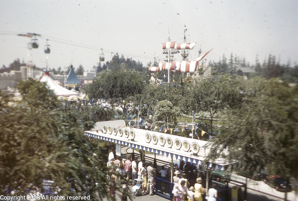 Midget Autopia ride. Disneyland vacation Kodachromes from 1962.