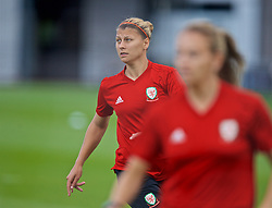 NEWPORT, WALES - Monday, September 2, 2019: Wales' Emma Jones during a training session at Rodney Parade ahead of the UEFA Women Euro 2021 Qualifying Group C match against Northern Ireland. (Pic by David Rawcliffe/Propaganda)