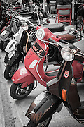 Parked scooters, Zadar, Dalmatian Coast, Croatia