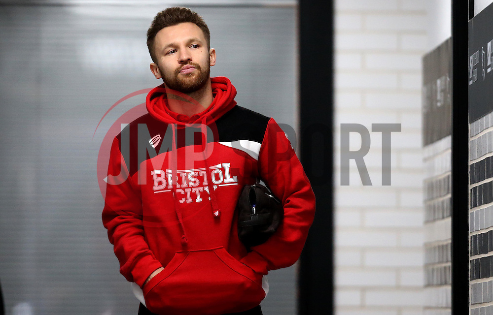 Matty Taylor of Bristol City arrives at The iPro stadium ahead of the Sky Bet Championship fixture with Derby County - Mandatory by-line: Robbie Stephenson/JMP - 11/02/2017 - FOOTBALL - iPro Stadium - Derby, England - Derby County v Bristol City - Sky Bet Championship