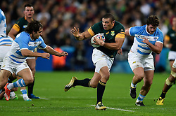 Bryan Habana of South Africa in possession - Mandatory byline: Patrick Khachfe/JMP - 07966 386802 - 30/10/2015 - RUGBY UNION - The Stadium, Queen Elizabeth Olympic Park - London, England - South Africa v Argentina - Rugby World Cup 2015 Bronze Final.