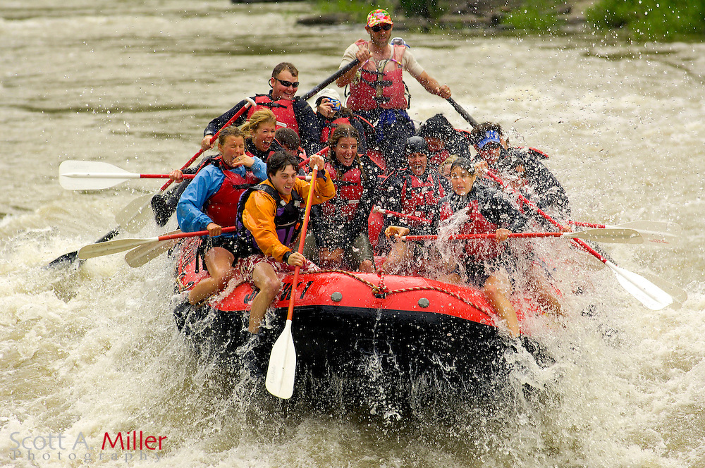 Jackson, WY. June 9, 2006 - White water rafting through the Table Top on the Snake River south of Jackson, WY...©2006 Scott A. Miller